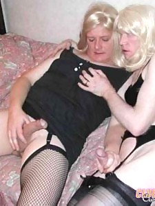 Sexy nylons and nice legs with big cocks