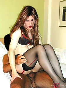 Tranny slut gets to fuck Kirsty in her tight ass